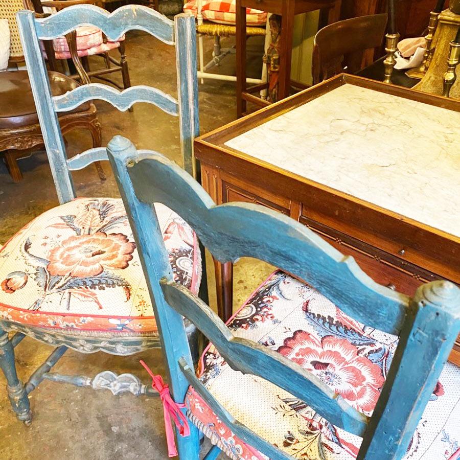 Paire De chaises Paillées Louis XV époque 18ème