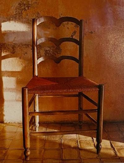 chaise paillée provence